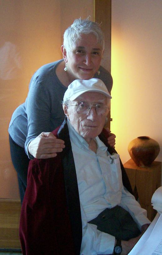 Sherry & her Dad 'Tony' at: 90yrs. Passover 2008